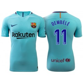 classic fit 88e4c 2d6a6 Ousmane Dembele #11 Barcelona 2017-18 Sky Blue Away Replica ...