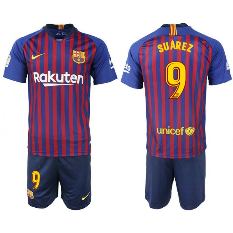 294033734 More Views. Youth 2018 19 Barcelona  9 SUAREZ Home Blue   Red Stripes Jersey