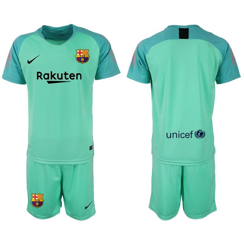 new concept 361f7 b17df 2018/19 Barcelona Goalkeeper Short Shirt Green