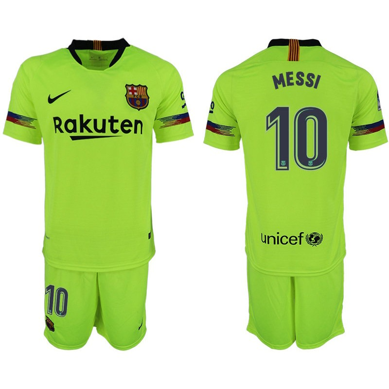 891a19939 More Views. Youth 2018 19 Barcelona  10 MESSI Away Light Yellow Green Jersey