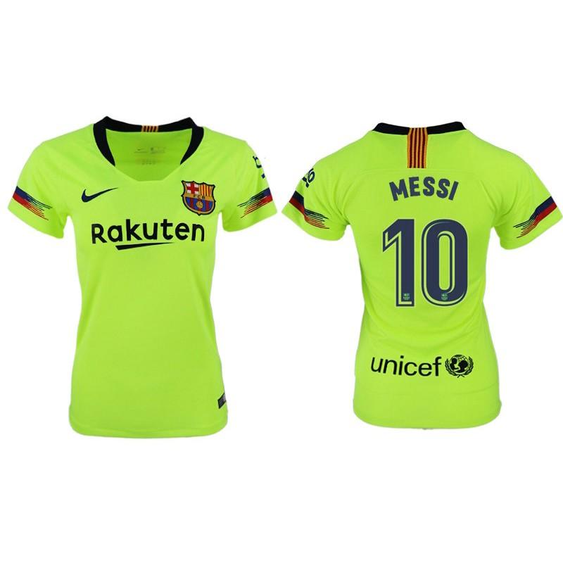 c7726055f3b More Views. Women 2018 19 Barcelona  10 MESSI Away Authentic Light  Yellow Green Jersey
