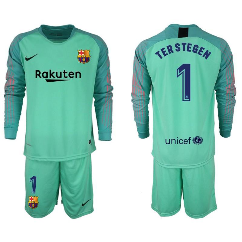 Sleeve Goalkeeper Barcelona 2018 Long Stegen 19 1 Jersey Ter Green eadbefbafee|Saints Harm Report For Redskins Recreation