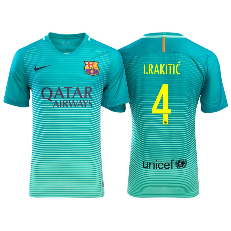 new styles 32a19 ad303 reduced barcelona 4 irakitic home soccer club jersey 45110 845b4