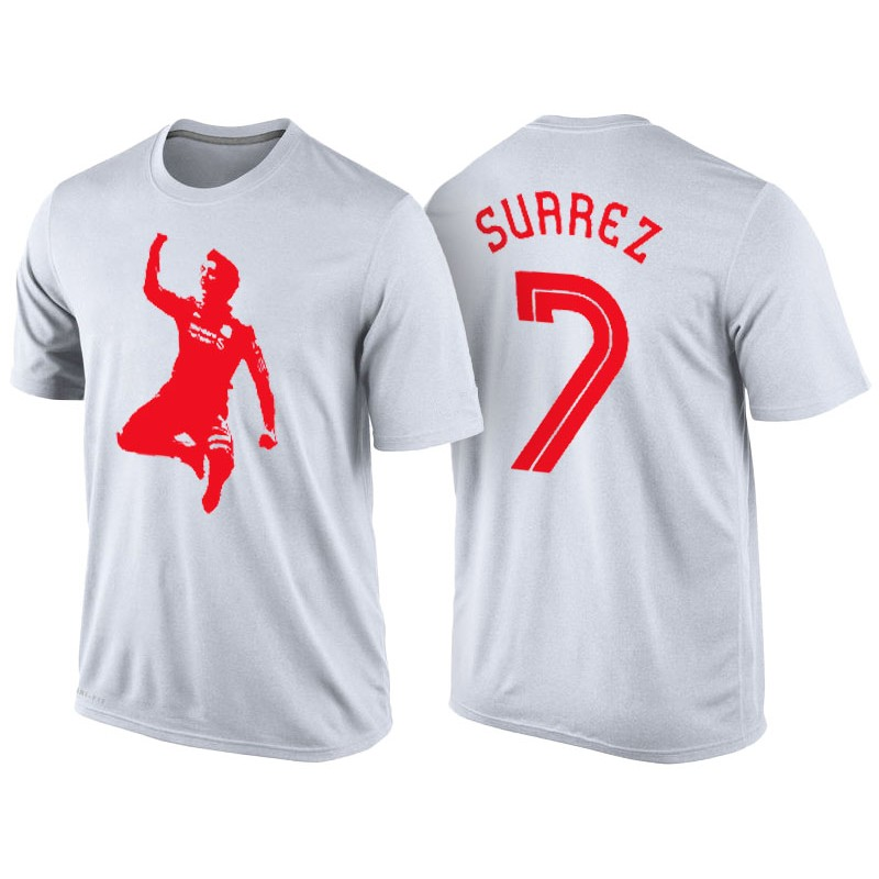 Men s Luis Suarez Barcelona White T-Shirt 7199ff178
