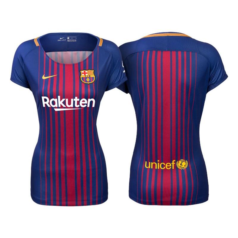 c28c45faa Women s 2017 18 Barcelona Blue Red Stripes Replica Home Jersey