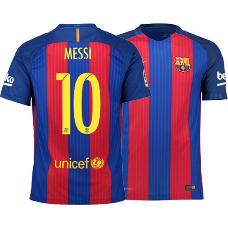 b3b310152f6 Barcelona 2016 17 Lionel Messi Home Jersey - Replica Blue Red Stripes  Barcelona  10 Short Shirt For Sale Size XS S M L XL