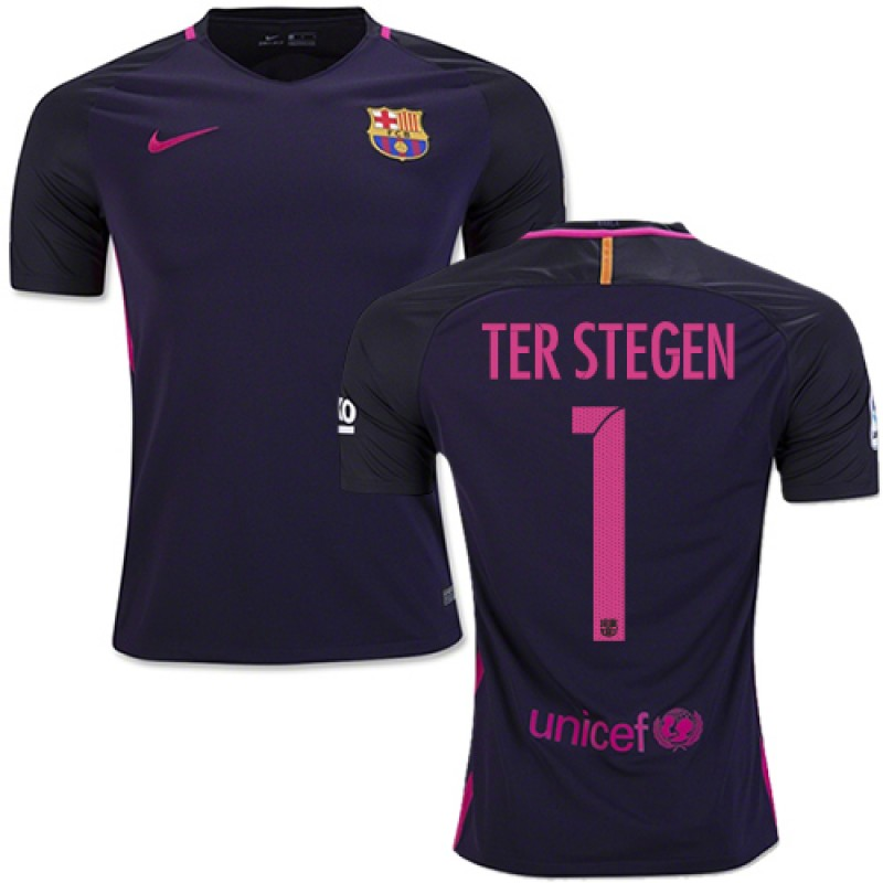 8f65c7c06 ... spain 16 17 barcelona 1 marc andre ter stegen purple away replica jersey  77b2a 167ef