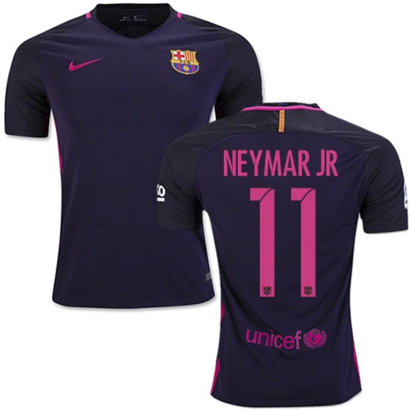newest de973 17e9a 16/17 Barcelona #11 Neymar JR Purple Away Authentic Jersey ...