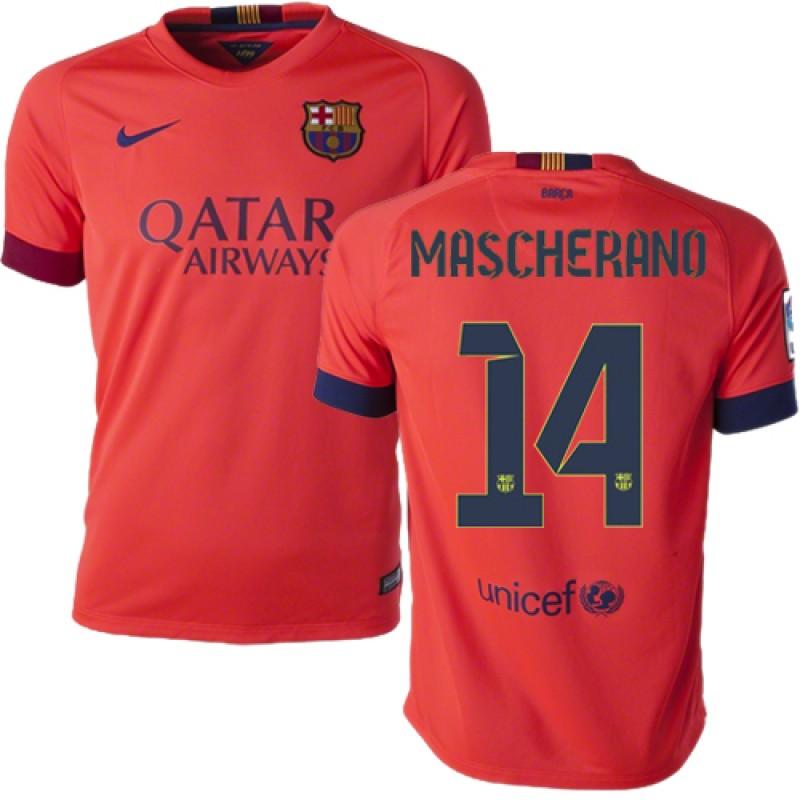 c44ecf20609 ... italy youth barcelona 14 javier mascherano orange away authentic soccer jersey  14 15 spain futbol club