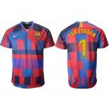 2018/19 Barcelona #1 TER STEGEN 20th Anniversary Stadium Soccer Jersey