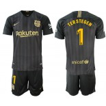 2018/19 Barcelona #1 TER STEGEN Black Training Jersey