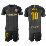2018/19 Barcelona #10 MESSI Black Training Jersey