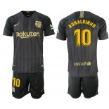 2018/19 Barcelona #10 RONALDINHO Black Training Jersey