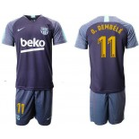 2018/19 Barcelona #11 O. DEMBELE Dark Blue Training Soccer Jersey