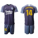 2018/19 Barcelona #14 COUTINHO Dark Blue Training Soccer Jersey