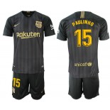 2018/19 Barcelona #15 PAULINHO Black Training Jersey