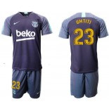 2018/19 Barcelona #23 UMTITI Dark Blue Training Soccer Jersey