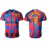 2018/19 Barcelona #7 COUTINHO 20th Anniversary Stadium Soccer Jersey