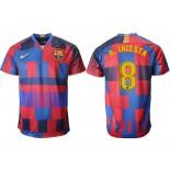 2018/19 Barcelona #8 A. INIESTA 20th Anniversary Stadium Soccer Jersey