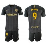 2018/19 Barcelona #9 SUAREZ Black Training Jersey
