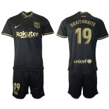 Youth 2020/21 Youth Barcelona #19 Martin Braithwaite Away Black Replica Jersey