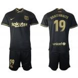 2020/21 Barcelona #19 Martin Braithwaite Away Black Authentic Jersey
