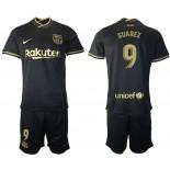 Womens 2020/21 Womens Barcelona #9 Luis Suarez Away Black Authentic Jersey