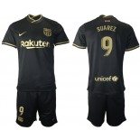 Womens 2020/21 Womens Barcelona #9 Luis Suarez Away Black Replica Jersey