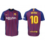2018/19 Barcelona #10 MESSI Home Authentic Blue & Red Stripes Jersey