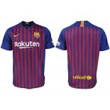 2018/19 Barcelona Home  Authentic Blue & Red Stripes Jersey
