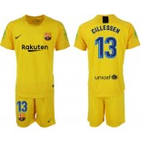 2018/19 Barcelona #13 CILLESSEN Goalkeeper Short Shirt Yellow Jersey