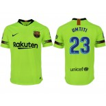 2018/19 Barcelona #23 UMTITI Away Authentic Light Yellow/Green Jersey