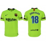 2018/19 Barcelona #18 JORDI ALBA Away Authentic Light Yellow/Green Jersey