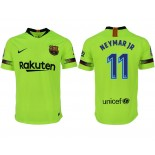 2018/19 Barcelona #11 NEYMAR JR Away Authentic Light Yellow/Green Jersey