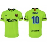 2018/19 Barcelona #10 MESSI Away Authentic Light Yellow/Green Jersey