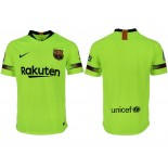 2018/19 Barcelona Away Authentic Light Yellow/Green Jersey