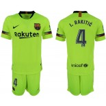 2018/19 Barcelona #4 I. RAKITIC Away Replica Light Yellow/Green Jersey