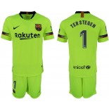 2018/19 Barcelona #1 TER STEGEN Away Replica Light Yellow/Green Jersey