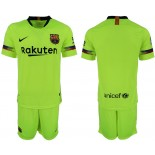Youth 2018/19 Barcelona Away Light Yellow/Green Jersey