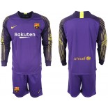 2018/19 Barcelona Goalkeeper Long Sleeve Purple Jersey