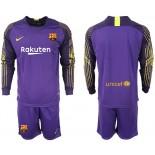 2018/19 Barcelona Goalkeeper Long Sleeve Purple Jersey