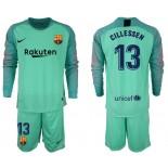 2018/19 Barcelona #13 CILLESSEN Goalkeeper Long Sleeve Green Jersey