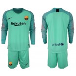 2018/19 Barcelona Goalkeeper Long Sleeve Green Jersey