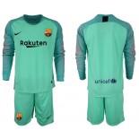 2018/19 Barcelona Goalkeeper Long Sleeve Green Jersey