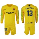 2018/19 Barcelona #13 CILLESSEN Goalkeeper Long Sleeve Yellow Jersey