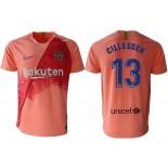 2018/19 Barcelona Third #13 Jasper Cillessen Pink Jersey