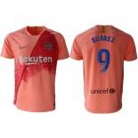 2018/19 Barcelona Third #9 Luis Suarez Pink Jersey