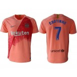 2018/19 Barcelona Third #7 Philippe Coutinho Pink Jersey