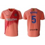2018/19 Barcelona Third #5 Sergio Busquets Pink Jersey