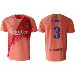 2018/19 Barcelona Third #3 Gerard Pique Pink Jersey